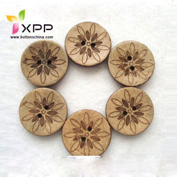 Laser Natural Coconut Button