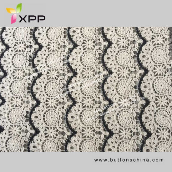Allover Lace Fabric New Arrival Lattice Hollowing Water Soluble White Lace Cotton Fabric