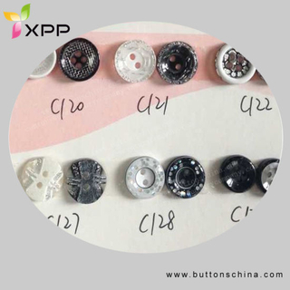 Fashion Polyester Shirt Button for Dtm Color