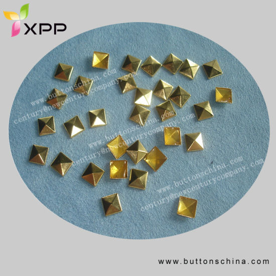 Golden Color Hotfix Stud for Decoration