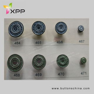 New Style High Quality Jeans Metal Button