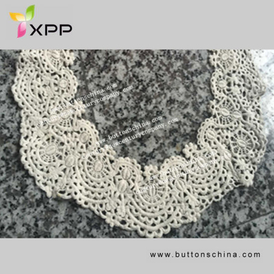 Water Soluble Embroidery Neck Lace Trimming