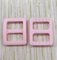 Mini Dyeable Plastic Buckle Pink