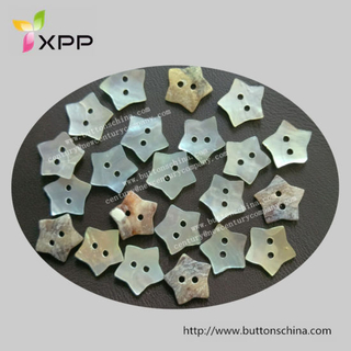 Star Shape Agoya Shell Button