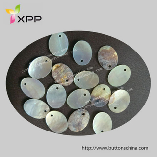 One Hole Oval Espeicial Shape Agoya Shell Button Natural Button