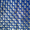 Mesh Fabric with DOT Printed Blue with Gold DOT
