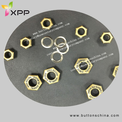 Hot Sales Sexangle Eyelet Metal Button