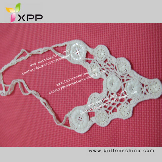 005 New Comings White Color Fashion Design Handmade Cotton Collar Lace