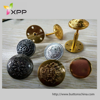 Metal Screw Button with Plated Gold Silver