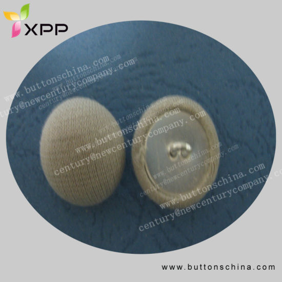 Metal Fabric Cover Button with Metal Feet